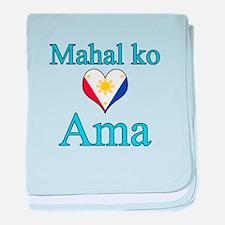 I Love Dad (Filipino) baby blanket