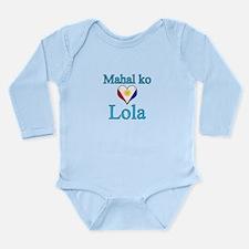 I Love Grandma (Filipino) Long Sleeve Infant Bodys