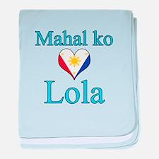 I Love Grandma (Filipino) baby blanket