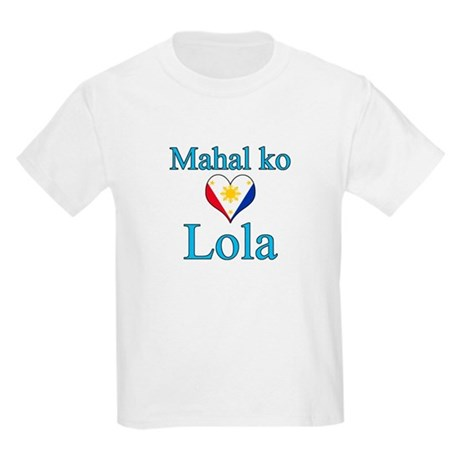 I Love Grandma (Filipino) Kids Light T-Shirt
