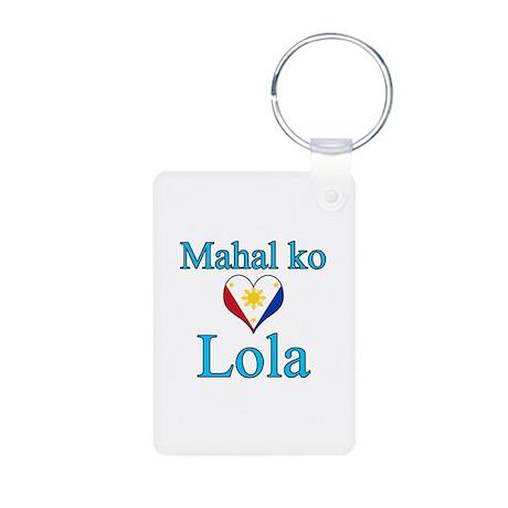 I Love Grandma (Filipino) Aluminum Photo Keychain