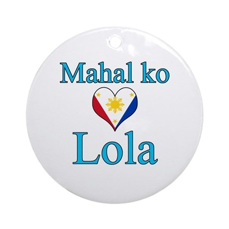 I Love Grandma (Filipino) Ornament (Round)