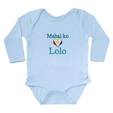 I Love Grandpa (Filipino) Long Sleeve Infant Bodys