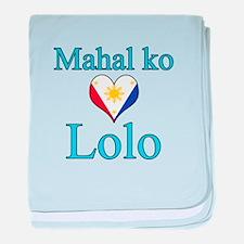 I Love Grandpa (Filipino) baby blanket