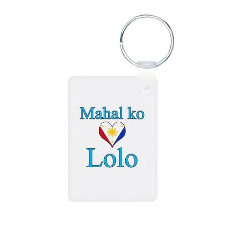 I Love Grandpa (Filipino) Aluminum Photo Keychain
