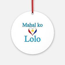 I Love Grandpa (Filipino) Ornament (Round)
