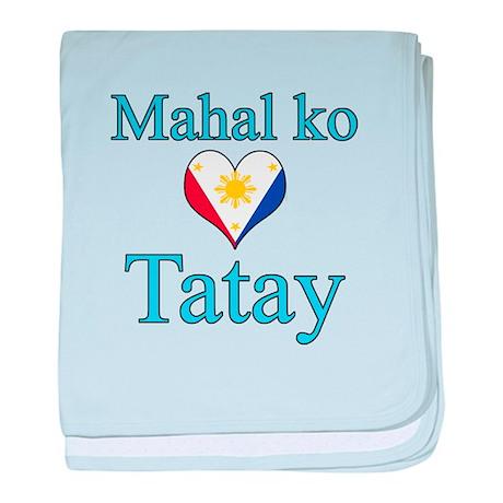 I Love Dad (2) (Filipino) baby blanket