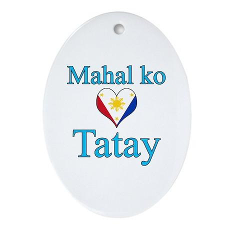 I Love Dad (2) (Filipino) Ornament (Oval)