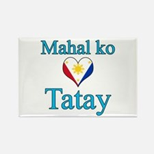 I Love Dad (2) (Filipino) Rectangle Magnet