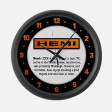 HEMI definition Large Wall Clock