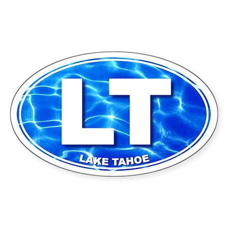LAKE TAHOE Water - LT Oval Sticker