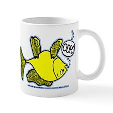 OOPS Upside Down Fish Mug