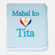 I Love Aunt (Filipino) baby blanket