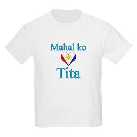 I Love Aunt (Filipino) Kids Light T-Shirt