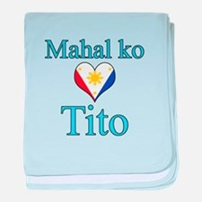 I Love Uncle (Filipino) baby blanket