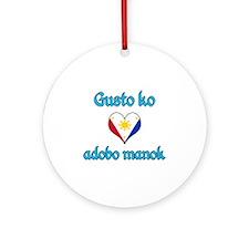 I Love chicken adobo Ornament (Round)