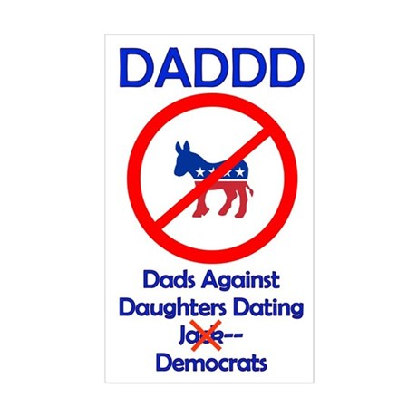 Dads Against Democrats Sticker (Rectangle)