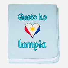 I Love Lumpia baby blanket