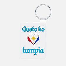 I Love Lumpia Keychains