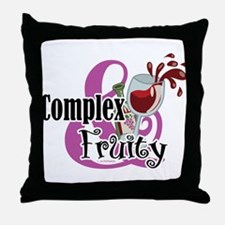 Complex and Fruity Throw Pillow