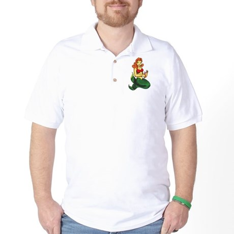Mermaid Tattoo Golf Shirt