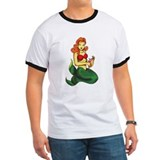 Tattoo mermaid Ringer T