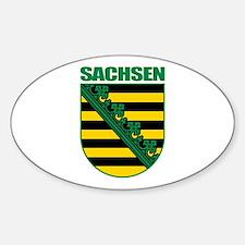 Sachsen (Saxony) COA Sticker (Oval)