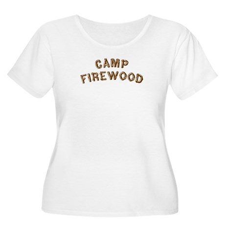 Camp Firewood Women's Plus Size Scoop Neck T-Shirt