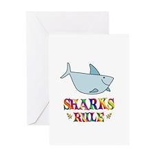 Fun Sharks Rule Greeting Card