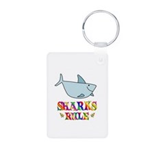 Fun Sharks Rule Keychains