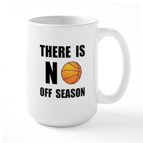 No Off Season Basketball Black Mugs