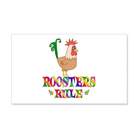 Fun Roosters Rule 22x14 Wall Peel