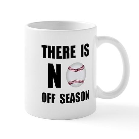 No Off Season Baseball Black Mugs