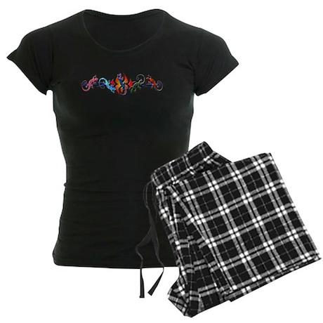 Gecko Banner Women's Dark Pajamas
