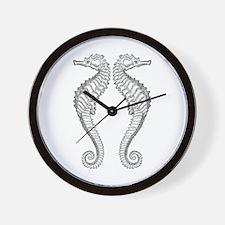 Vintage Seahorse Wall Clock