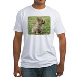 Swedish Vallhund Pup 9Y165D-131 Fitted T-Shirt