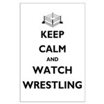 Keep Calm and Watch Wrestling Large Poster