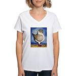 Modena Silver Gazzi Women's V-Neck T-Shirt