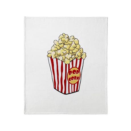 Cartoon Popcorn Bag Throw Blanket