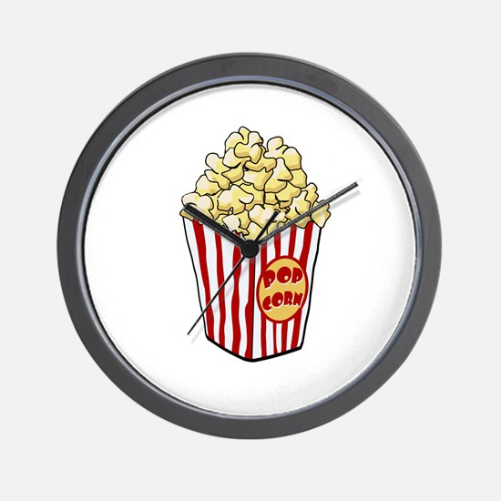 Cartoon Popcorn Bag Wall Clock