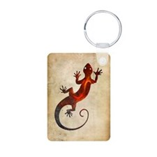 Fire Red Gecko Keychains