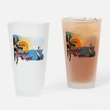 Sanibel Pelican Sunset Drinking Glass