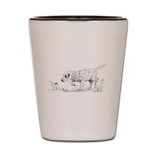 English Setter Puppy Shot Glass