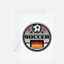 Live Love Soccer Germany Greeting Card