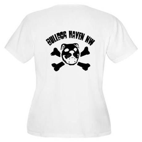 BHNW Skull Duo Women's Plus Size Scoop Neck T-Shir