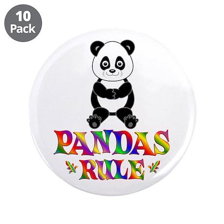 "Fun Pandas Rule 3.5"" Button (10 pack)"