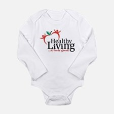 Unique Healthy living Long Sleeve Infant Bodysuit