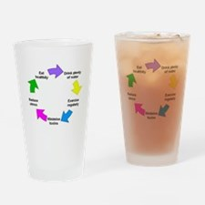 Funny Healthy living Drinking Glass