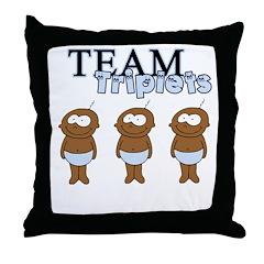 Team Triplets Throw Pillow