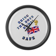 Bring the Boys Home Safe - UK Large Wall Clock
